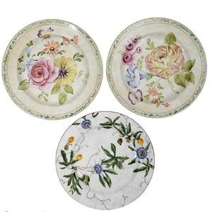 American Atelier Salad Dessert Plates Floral Set 3